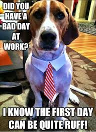 Did you have a bad day at work? I know the first day can be quite ... via Relatably.com