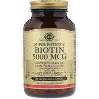 «<b>Биотин</b>, <b>5000</b> мкг, 100 <b>вегетарианских</b> капсул» — Витамины и ...