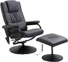 HOMCOM Deluxe <b>Faux</b> Leather <b>Massage Recliner</b> Chair Easy Sofa ...