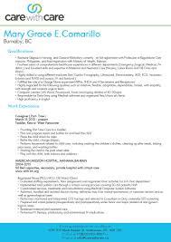 caregiver resume samples eager world caregiver resume samples child care provider resume sample and objectives