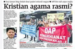 Image result for dap mahu kristiankan malaysia