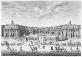 french decorative arts during the reign of louis xiv  louis xiv in allegorical armor middot chacircteau de versailles seen from the forecourt from chalcographie du louvre vol
