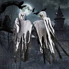 <b>Halloween</b> Animated Voice Control <b>Hanging Ghost Skeleton</b> Reaper ...