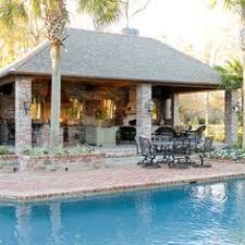 outdoor kitchen pool house covered kitchens