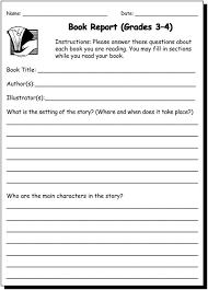 Pinterest     The world     s catalog of ideas Book Report    amp      Practice Writing Worksheet for  rd and  th Graders   JumpStart