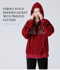 Toyouth <b>Women Sweatshirt</b> Zipper Coat <b>2019 Autumn</b> Casual Letter ...