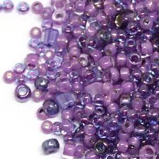 Бисер Микс TOHO <b>№3207</b> фиолетовый Японский <b>бисер TOHO</b> ...