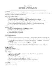 auto resume auto resume template auto resume template sample automotive technician resume