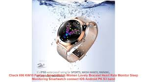 Check 696 KW10 Fashion Smart Watch <b>Women Lovely Bracelet</b> ...