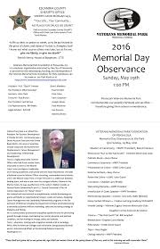 home memorial day ceremony program