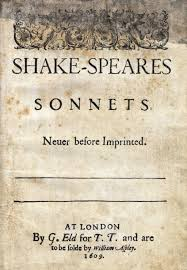 shakespeare sonnets and writework english title page of shakespeare s sonnets 1609