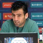 Juan Fuentes, defensa de l'Espanyol, durant la roda de premsa / RCDE - Juan-Fuentes-defensa-lEspanyol-RCDE_ARAIMA20140312_0151_41