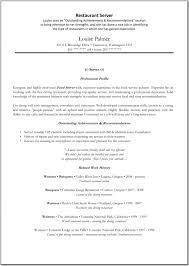 restaurant experience resume restaurants imeth co good server gallery of resume sample for restaurant server