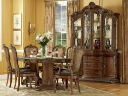 Formal Dining Room Sets With China Cabinet Reclaimed Modern Glass Round Dining Table Design Small Dining Room