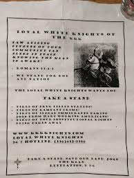 kkk recruitment letters circulate in murray wkms view slideshow 2 of 5