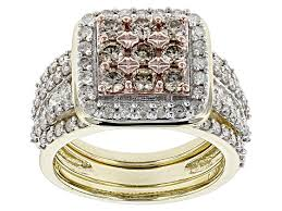 qyi 1 5 ct 10k solid yellow gold rings rectangle cut sona simulated diamond halo for women wedding engagement jewelry