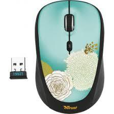 <b>Мышь</b> компьютерная <b>Trust Yvi Wireless</b> Mini <b>Mouse</b> flower 19521 ...