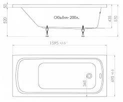 <b>Акриловая ванна Triton Стандарт</b> 160x70 см в интернет ...