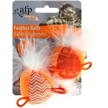 All For Paws Modern <b>Feather</b> Balls <b>Cat Toy</b>, Assorted <b>Colors</b> - Pet ...
