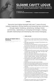 sales resume samples   visualcv resume samples databasedirector of digital sales  amp  marketing resume samples