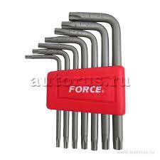 <b>Набор ключей Г-образных TORX</b> Т10-Т40 7 предметов FORCE ...