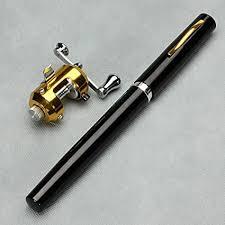 G Ganen 38inch Mini <b>Portable</b> Pocket <b>Aluminum Alloy Fishing</b> Rod ...