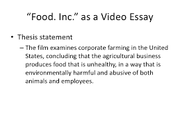 """video essay""""food"""