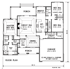 Home Plan The Lujack by Donald A  Gardner ArchitectsFloor Plans  FIRST  first f