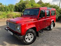 <b>Red</b> Land Rover <b>Defender</b> 110 used cars for sale on Auto Trader UK