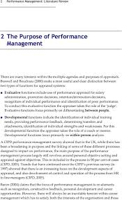 performance management literature review catherine chubb peter administration promotion decisions retention termination decisions recognition of individual performance and identification