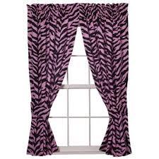 print pink curtains