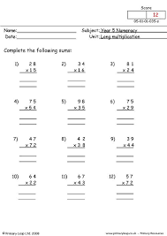 Long Multiplication Test Sheet - Grade 4 multiplication worksheets ...Decimals worksheets dynamically created decimal worksheets. Printable multiplication ...