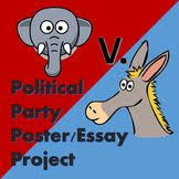 party poster political party and poster on pinterest political party poster amp essay project