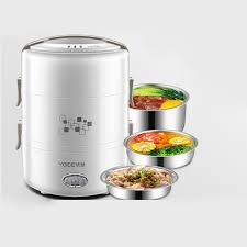 Yoice 220V <b>Portable</b> 3 Layers <b>Electric Lunch</b> Box Insulation <b>Cooking</b> ...