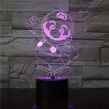 3D Lamp Super Mario <b>Cartoon</b> Game Children Best <b>Christmas</b> ...