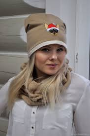 Hat beanie <b>Jersey</b> fleece lining – купить на Ярмарке Мастеров ...