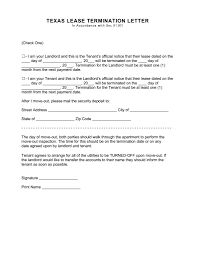 texas lease termination letter form day notice pdf for texas lease termination letter form 30 day notice pdf for 30 day notice to vacate letter