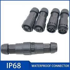 <b>M16</b> IP68 Connector <b>Waterproof</b> Plug 2/3/4/5/6/7/8/9/10 11/12 Pin ...