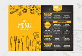 cafe menu restaurant brochure food design template royalty food design template stock vector 42514495