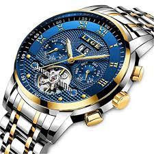 <b>Mens Watches</b> Top Brand Luxury <b>LIGE Automatic</b> Mechanical <b>Watch</b> ...