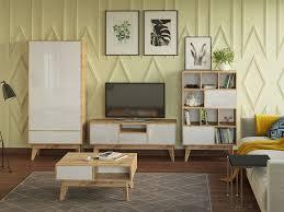 Гостиная <b>Хелен</b> белая. Купить модульную мебель для гостиной ...