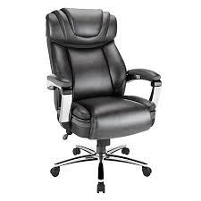 realspace axton big tall bonded leather high back chair dark gray big office chairs big tall