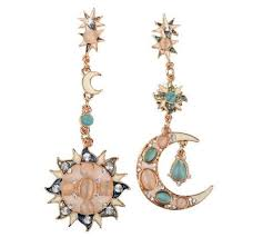 <b>Bohemia Sun and Moon</b> & Star Earrings
