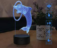 <b>3D Night Light</b>, Touch <b>LED</b> Lamp Decor, USB Powered 7 Colors ...
