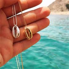 Vintage Fashion Gold Silver Color <b>Conch Shell Necklace</b> For ...