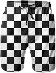 QQMIMIG Black and White Checkered Men Sports ... - Amazon.com