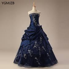 <b>Navy Blue Quinceanera</b> Dresses Long 2018 Puffy Ball Gown ...