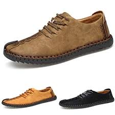 ZIITOP Suede Casual Shoes <b>Men's British Style</b> Handmade <b>Leather</b> ...