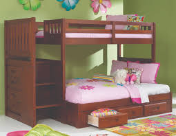 Kids Bedroom Beds Discovery World Furniture Twin Over Full Merlot Staircase Bunk Bed