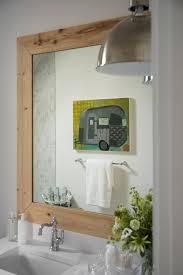 wood bathroom mirror digihome weathered: crafty wood frame mirror for bathroom framed mirrors bathrooms